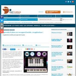 Apprendre le piano avec un appareil mobile - 16 applications !