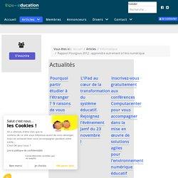 OK Rapport Fourgous 2012 : Tice-éduca