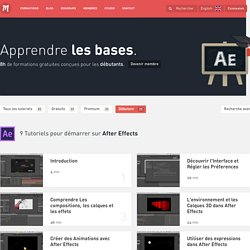 Apprendre les bases d'After Effects et de Cinema 4D