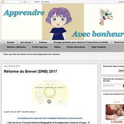 Réforme du Brevet (DNB) 2017