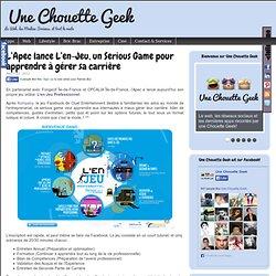 L'Apec lance L'en-Jeu, un Serious Game pour apprendre à gérer sa carrière