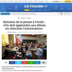 Semaine de la presse à l'école : «On doit apprendre aux élèves où chercher l'information»