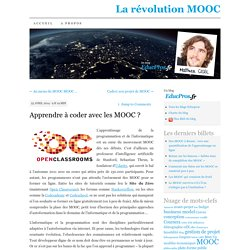 Apprendre à coder avec les MOOC ?