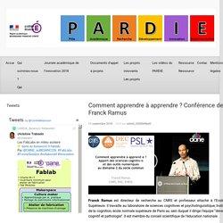 Comment apprendre à apprendre ? Conférence de Franck Ramus – PARDIE Besançon