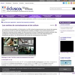Actualités - Les centres de connaissances et de culture