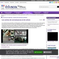 Centre de connaissances et culture - Les centres de connaissances et de culture