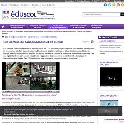 Les lieux pour apprendre : repenser l(es) espace(s) scolaire(s) - Les centres de connaissances et de culture