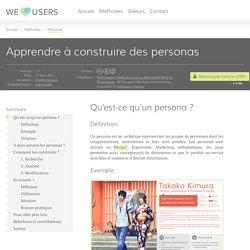 Apprendre à construire des personas - We Love Users