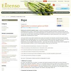 Apprendre à cuisiner grâce au Web - Blogue - Extenso