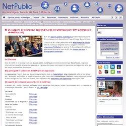 26 supports de cours pour apprendre avec le numérique par l'EPN Cybercentre de Helfaut (62)
