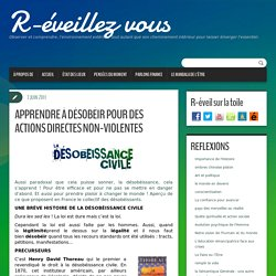 APPRENDRE À DÉSOBÉIR POUR DES ACTIONS DIRECTES NON-VIOLENTES