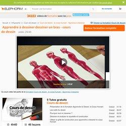 Apprendre à dessiner dessiner un bras - cours de dessin - Elephorm.com