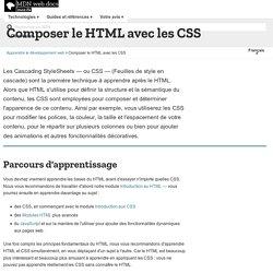 Composer le HTML avec les CSS - Apprendre le développement web