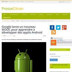 Google lance un MOOC pour apprendre à développer pour Android