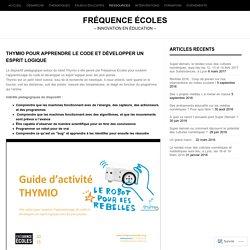 Thymio pour apprendre le code et développer un esprit logique