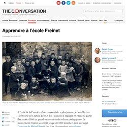 Apprendre à l'école Freinet