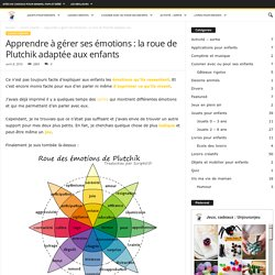 Apprendre à gérer ses émotions : la roue de Plutchik pour enfants