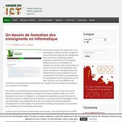Hands-On TIC: Apprendre, pratique, enseigner la créativité et les TIC