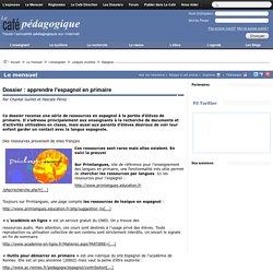 Dossier : apprendre l'espagnol en primaire