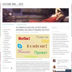 Se former en ligne avec un petit budget: apprendre une langue étrangère par Skype