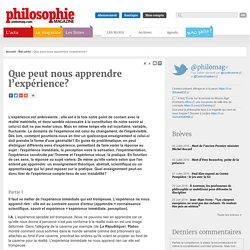 Bac Philo, Expérience, Science, Réalité