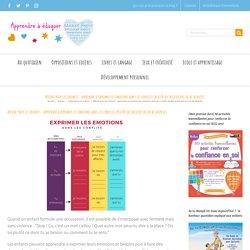 Affiche pour les enfants : apprendre à exprimer les émotions dans les conflits (plutôt qu'accuser en cas de dispute)