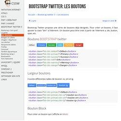 Apprendre à créer des boutons avec le framework css Bootstrap Twitter