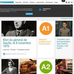 MONDE - Apprendre.TV - FLE - français langue étrangère: apprendre le français avec TV5MONDE