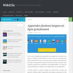Apprendre plusieurs langues en ligne gratuitement