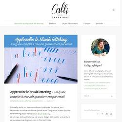 Apprendre le brush lettering + un guide complet à recevoir gratuitement