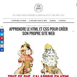 Apprendre le HTML / CSS et créer son propre site web !