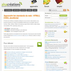 Apprendre HTML5, CSS3 pour créer un site web