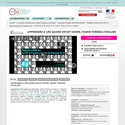 Apprendre à lire quand on est sourd / Marie-Thérèse L'Huillier - Université Toulouse-Jean Jaurès (Toulouse II-le Mirail)