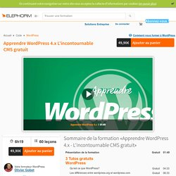 Apprendre WordPress 4 - Wordpress - Web-Multimédia