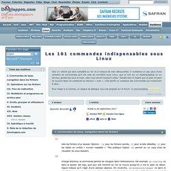 Apprendre les 101 commandes indispensables sous linux