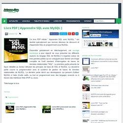 Livre PDF [ Apprendre SQL avec MySQL ] - Astuces informatiques
