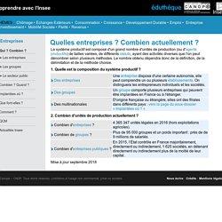 Apprendre avec l'Insee - Les entreprises : qui ?