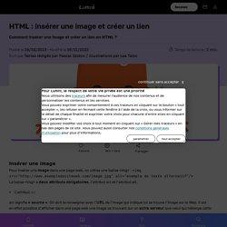 Apprendre le HTML : insérer une image et créer un lien - Spécialités