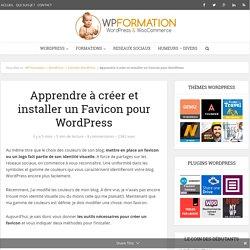 Apprendre à créer et installer un Favicon pour WordPress