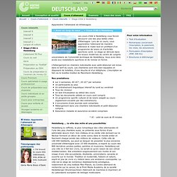 Apprendre l'allemand - Cours intensifs - Stage d'été à Heidelberg-Goethe-Institut