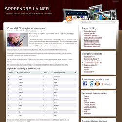 Apprendre la mer » Cours VHF 03 – l'alphabet International