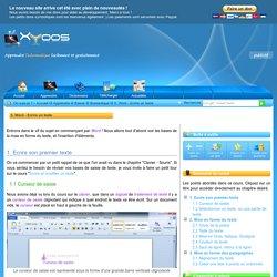 Apprendre les bases de Word 2010