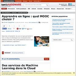 Apprendre en ligne : quel MOOC choisir ?