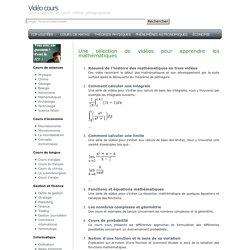 Cours vidéo pour apprendre des calculs mathématiques