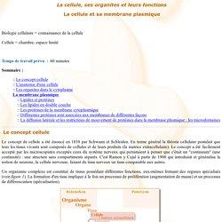 Apprendre - La cellule et sa membrane plasmique