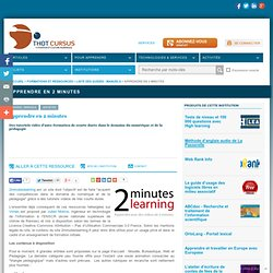 Vidéo-Apprendre en 2 minutes