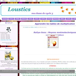 Maths pearltrees - Methode pour apprendre les tables de multiplication ...