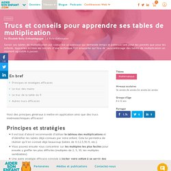3e ann e pearltrees for Apprendre ses tables de multiplication