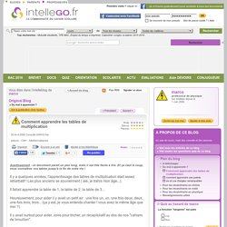Tables et pearltrees - Comment apprendre table multiplication ...