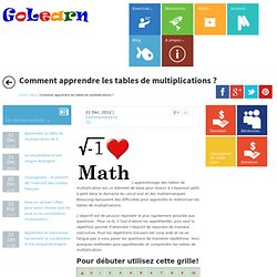 Les 4 op rations pearltrees - Application pour apprendre les tables de multiplication ...